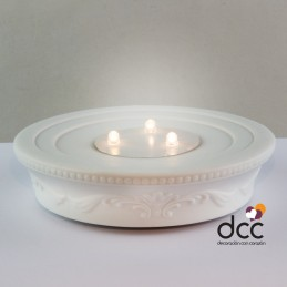 Base Dome-Light Led con adorno