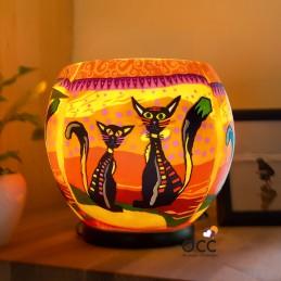 Lámpara Luminiscente Dos gatos