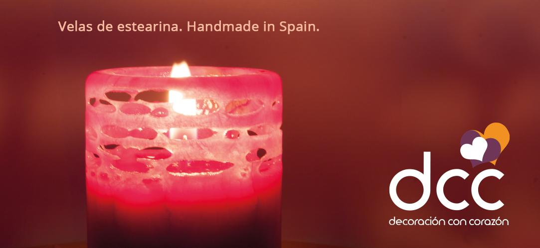 Velas de estearina. Handmade in Spain.